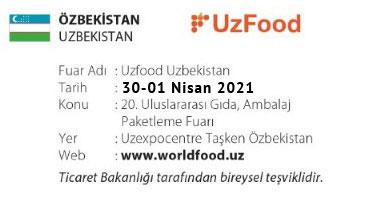 UzFood Uzbekistan 30-01 April 2021