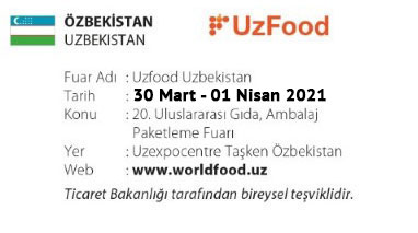 UzFood Uzbekistan 30 March-01 April 2021