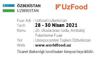 UzFood Uzbekistan 28 – 30 April 2021