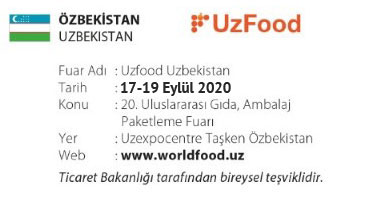 UzFood Uzbekistan 17-19 September 2020