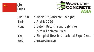 World Of Concrete Shanghai December 2020